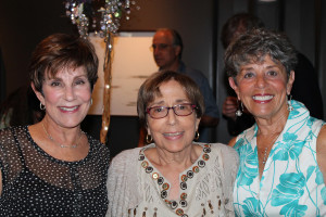 Celebrating the National Council of Jewish Women at Portland's Press Hotel are board president Lynn Goldfarb of Cumberland Foreside, center, and past presidents Gail Volk, left, and Diane Volk, right, also of Cumberland Foreside.