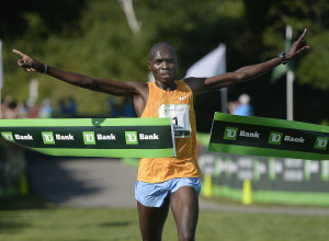 Stephen Kosgei Kibet of Kenya wins the 18th annual TD Beach to Beacon 10K road race Saturday. Shawn Patrick Ouellette/Staff Photographer