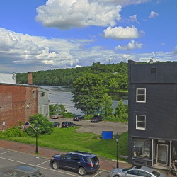 The recently sold vacant lot beside the Quarry Tap Room in Hallowell.
