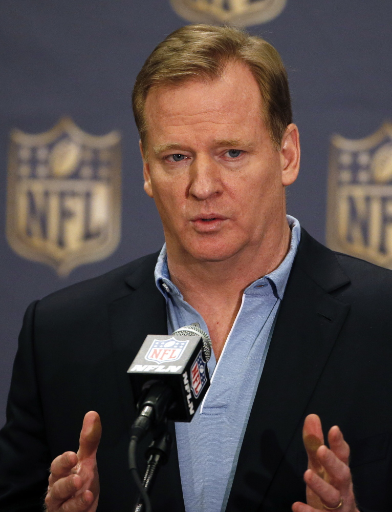 Commissioner Roger Goodell followed the bargaining agreement in his ruling, the argument will go.