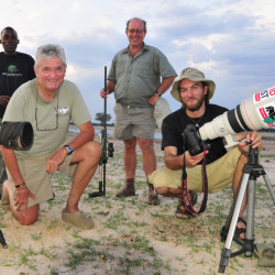 Brent Stapelkamp, front right, shown with colleagues in Hwange National Park in Zimbabwe, is part of a team that had tracked and studied Cecil the lion for nine years.