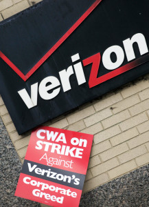 Verizon and unions representing workers in nine states said employees will work without a contract as more negotiations are scheduled.