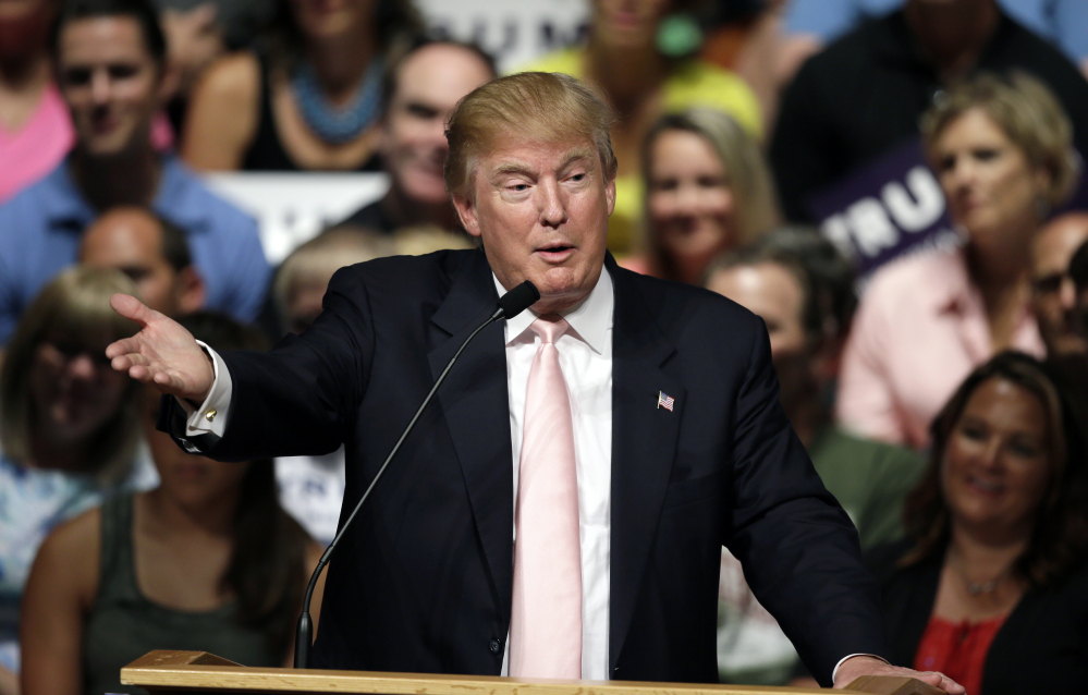 Republican presidential candidate Donald Trump is nowhere among the ranks of the country's most generous citizens, according to an Associated Press review of his financial records and other government filings.