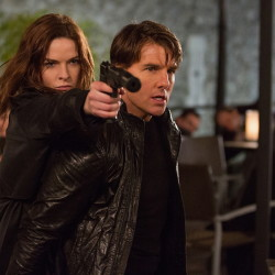 Tom Cruise and Rebecca Ferguson make for good entertainment, especially as celluloid enemies.