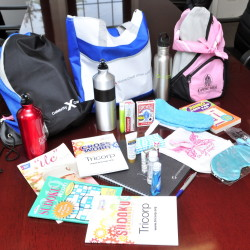 Diana Winkley got the backing of the Capital Area Federal Credit Union in launching the goodie-bag program for chemo patients.