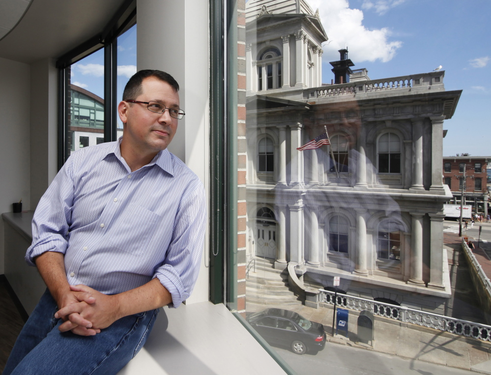 """CashStar President and CEO Ben Kaplan, at his Portland office: """"I'm more confident and excited about the business than at any point in the last two years,"""" he said."""