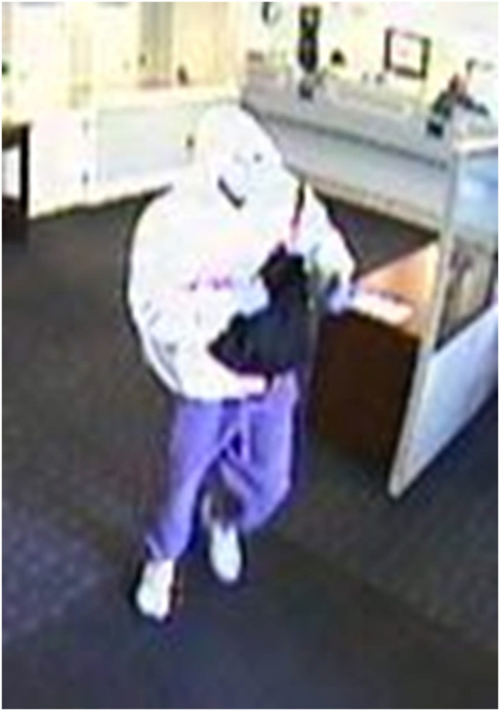 Courtesy Freeport Police Department Freeport police released this image taken from a security camera of the man who robbed the Norway Savings Bank branch in Freeport on Monday.