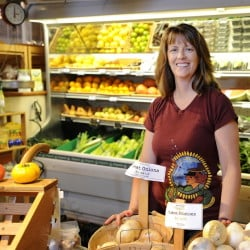 Tina Wilcoxson, owner of Royal River Natural Foods in Freeport, is one of five finalists for an award that honors retailers who get involved with public policy discussions.