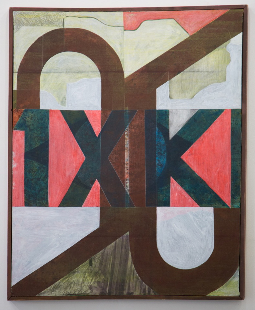 An untitled 1969 oil painting by Thomas Monahan.