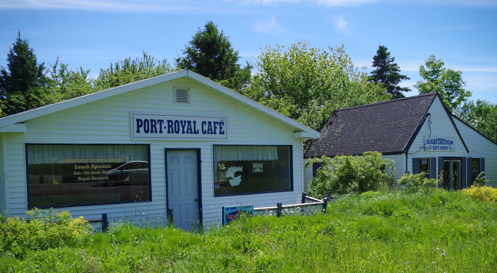A defunct gift shop and restaurant sit abandoned in Granville, Nova Scotia. Many rural areas in the Maritimes have shrunk in population and can't afford to pay for town services.