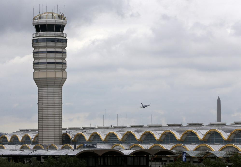 In 2011 at Washington's Ronald Reagan National Airport, shown here, two airliners landed late at night with no assistance because the lone controller on duty had fallen asleep. After the incident, the FAA required two controllers to be on duty after midnight.