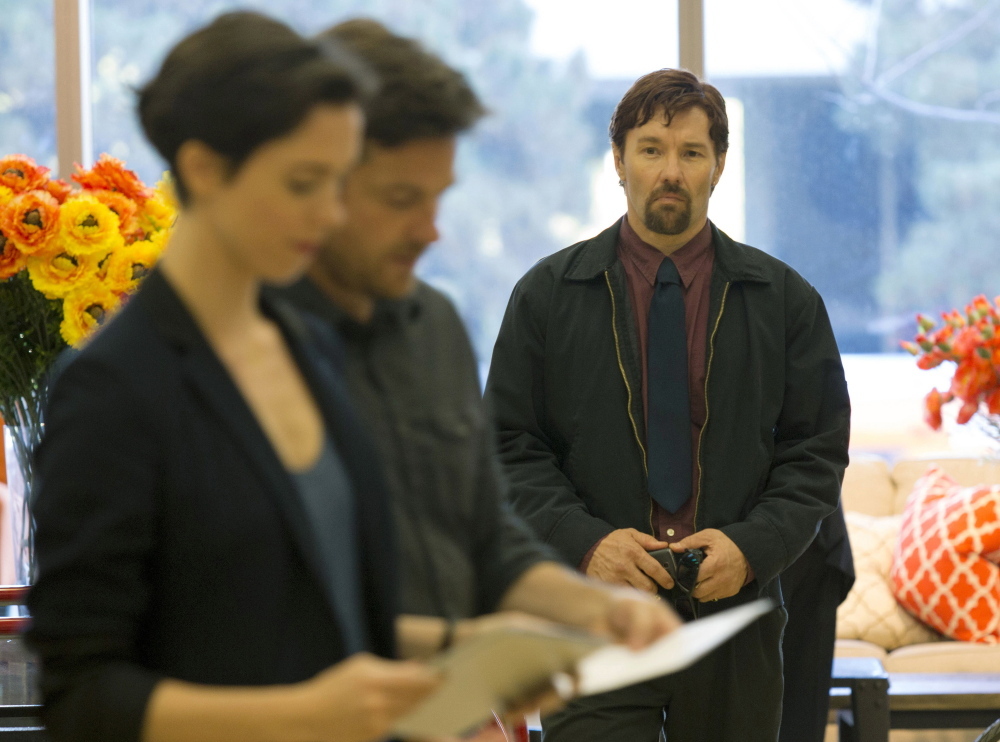 """Rebecca Hall, Jason Bateman and Joel Edgerton in """"The Gift,"""" now showing."""