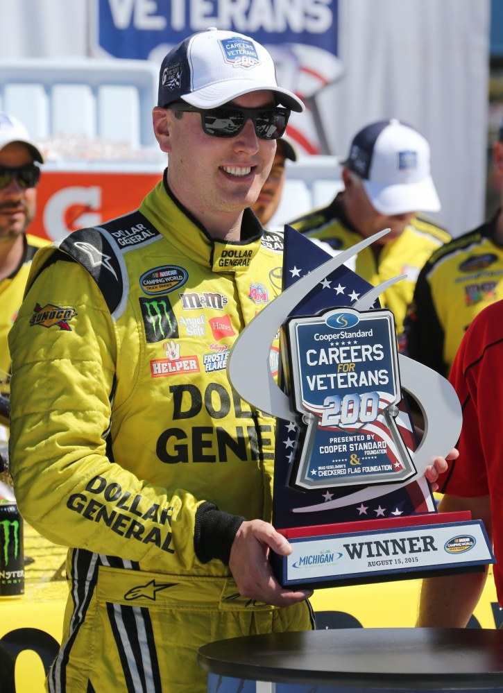 It was a Saturday of highs and lows for Kyle Busch, whose wreck during Sprint Cup practice in the morning pushed him to the back of the lineup for Sunday's race. Later, Busch overcame a penalty for speeding on pit road to earn his 44th career Truck Series victory.