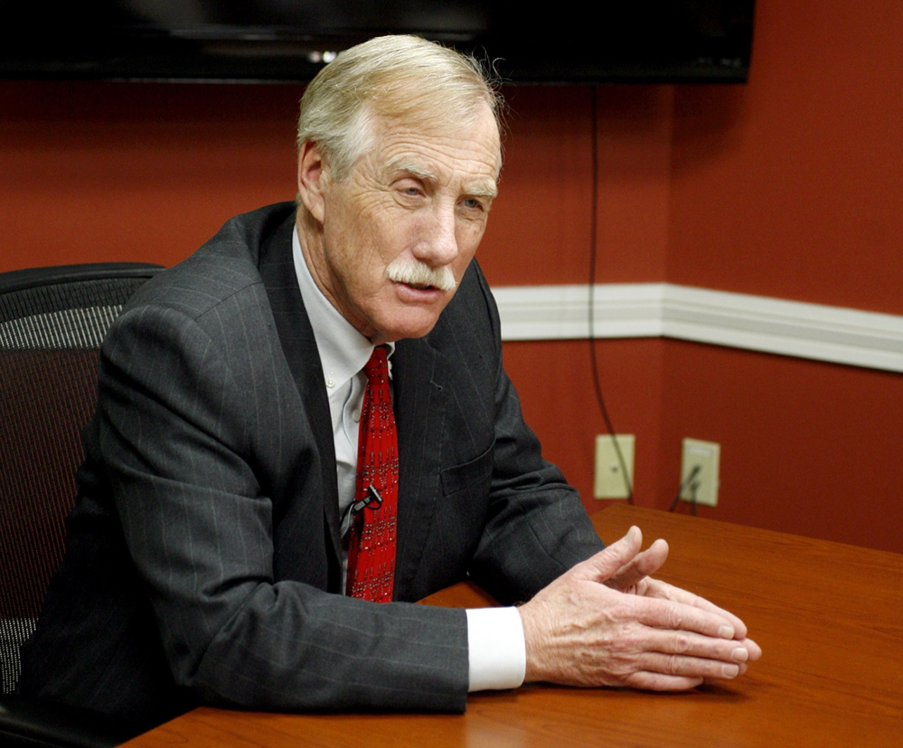 U.S. Sen. Angus King.  Press Herald file photo.