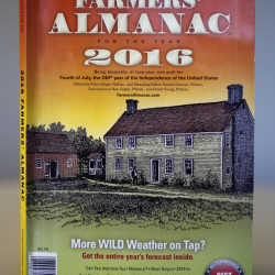 """This is a copy of the 2016 Farmer's Almanac. The editors of the Maine-based publication have dubbed their latest forecast a """"winter deja vu,"""" hearkening to last winter's misery across the Northeast."""