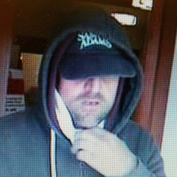 Westbrook police are trying to identify this man, who walked into two banks wearing a surgical mask, but then left. Anyone with information is asked to call 584-2531.