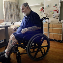 Hospitalized for a recent illness, Eric Chipman of Sanford says his recovery was delayed because he wasn't allowed to use a cannabis lotion that relieves the lingering effects of a 1976 motorcycle accident.
