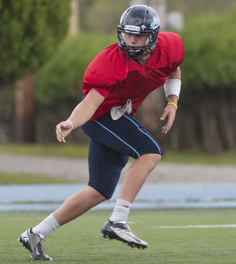 Drew Belche had one promising drive for the Black Bears during Tuesday's scrimmage, but had a better performance than Dan Collins, who struggled. One will start the opener at Boston College on Sept. 5. But who?