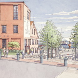Sketches show how developers envision redevelopment of the former Portland Co. complex.