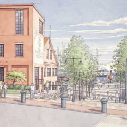 Sketches released Wednesday show how developers envision redevelopment of the former Portland Co. complex.