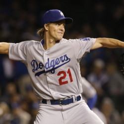 Dodgers starter Zack Grienke tossed another gem Thursday, allowing four hits in seven innings at Cincinnati to lower his major league-leading ERA to 1.61. Los Angeles won, 1-0.