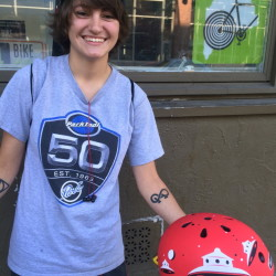 Morgan Mulkern, a bike technician at Ernie's Cycle Shop in Westbrook, says she feels at home when she's riding.