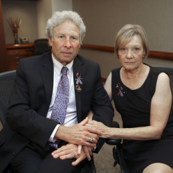 Andy and Barbara Parker, of Collinsville, Va., the parents of slain reporter Alison Parker, used a televised interview  Friday to pledge a 'mission' for gun control.