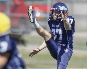 Sean Decloux, who came to Maine thinking he'd be a punter and instead became a place-kicker, may become the first Black Bear to hold both jobs since Jordan Waxman in 2009.