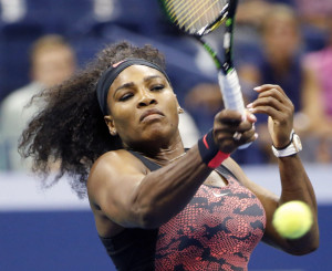 Serena Williams, defending U.S. Open women's champion, had little trouble dispatching Vitalia Diatchenko with a 6-0, 6-2 first-round win at New York on Monday.