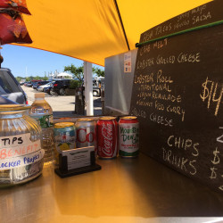 Yellow Cart sells lobster rolls, lobster grilled cheese, crab melts and hot dogs on Commerical Street. Courtesy photo