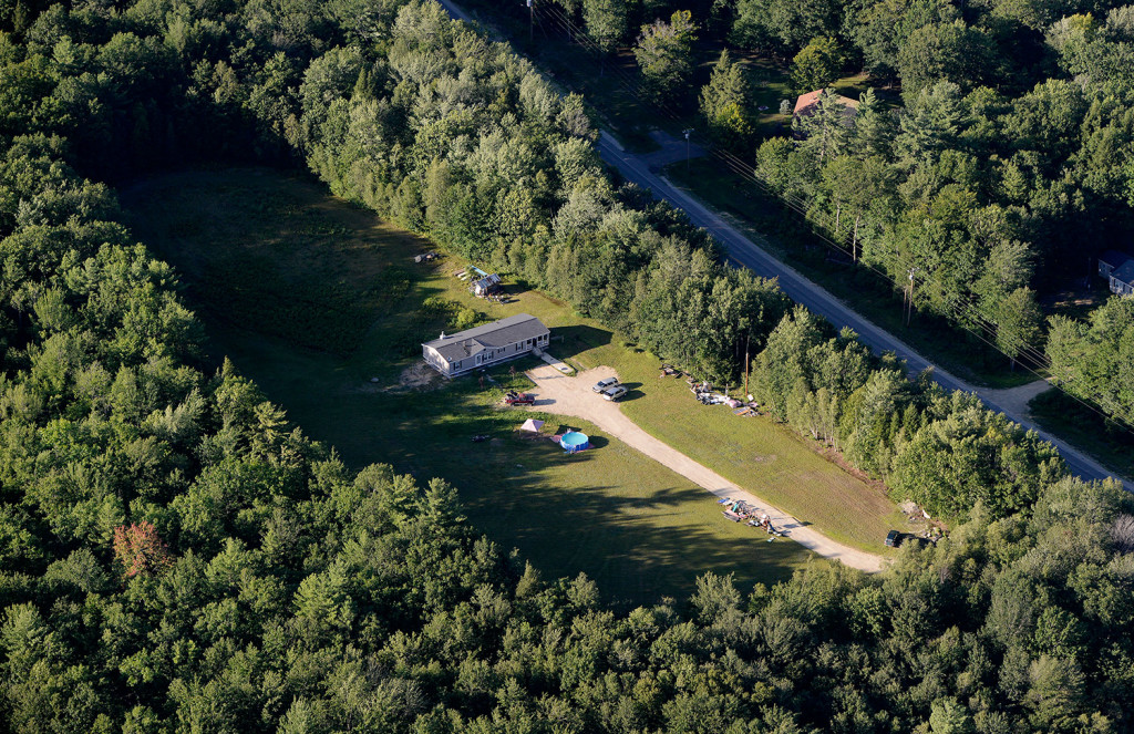 Police from multiple agencies are searching this area off Route 108 in Canton in the cold-case disappearance of Kimberly Moreau, who was last seen in May 1986.
