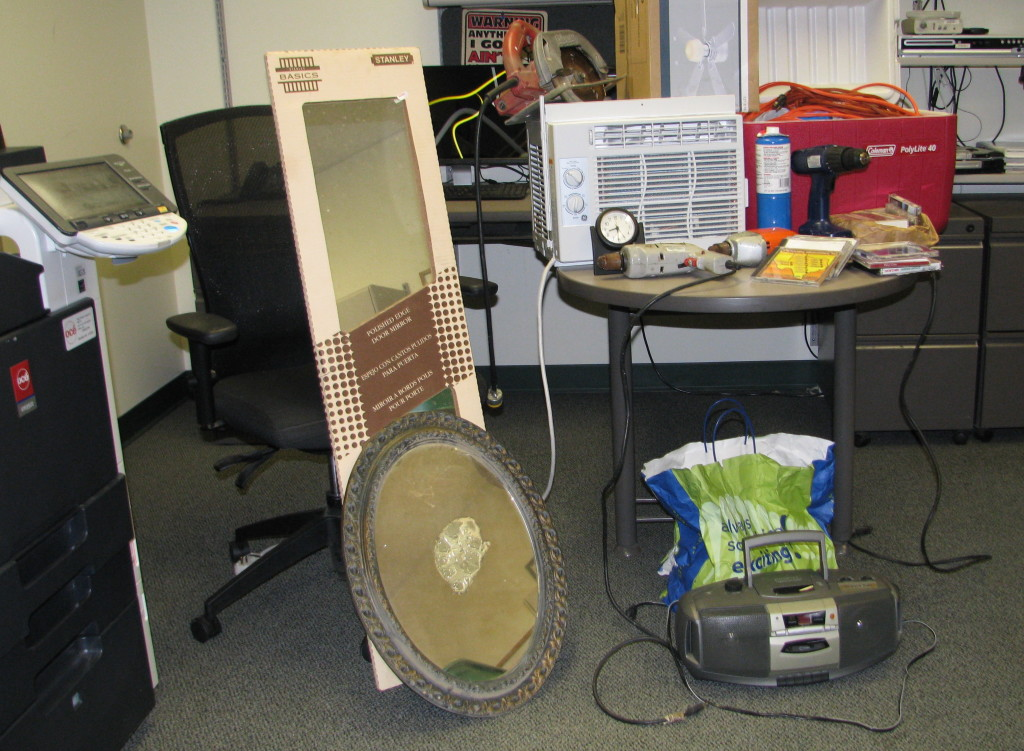 York County sheriff's deputies have recovered items stolen from summer homes and are sorting out which items came from which houses. Courtesy York County Sheriff's Office