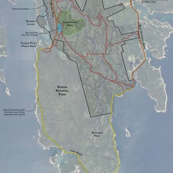 Site plan for the new Schoodic Campground, a new Acadia National Park campground near Winter Harbor, Maine.