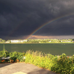 Amy Sturgeon shot a photo of a rainbow in South Portland.