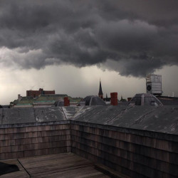 Tyler Watson took this photo of downtown Portland from 148 Middle St.