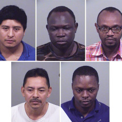 Clockwise from upper left: Angel Poblano-Medoza of Portland, Benjamin Kuku Kodi of Portland, Jean Marie Nkaka of Portland, Christian Kabeya-Tshishimbi of Portland, and Pedro Gutierrez of Portland.