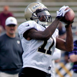 Jalen Saunders is heading to New England. The New Orleans Saints will send the second-year return specialist and wide receiver to the Patriots for an undisclosed draft draft pick. The Associated Press