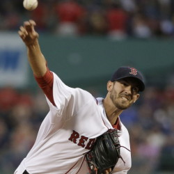 Red Sox starter Rick Porcello delivers against the New York Yankees in the first inning Tuesday night. Porcello took a hard-luck loss as Boston scored just one run.