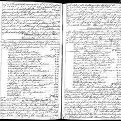 """This public document from Massachusetts probate records, provided by Ancestry.com, shows part of Paul Revere's will, which reveals some interesting facts. He left each of his grandchildren $500, except for one, """"who shall have no part of my estate"""" except for $1, the will says."""