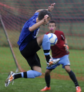 Jackson Fotter of Gorham is one of the growing number of players committed to soccer throughout the year, and it truly shows during the high school season.