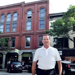 """The Masonic Building is a beautiful building. It's probably one of the nicer buildings downtown and looks over Castonguay Square,"" says its new owner Bill Mitchell."