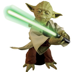 Spin Master Corp.'s Legendary Yoda, a 16-inch-tall figure with lifelike movements and voice recognition.