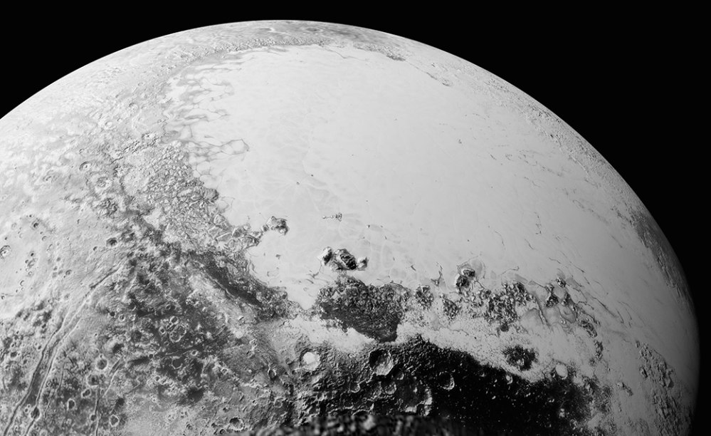 This July 14 photo provided by NASA shows a view of Pluto taken from the New Horizons spacecraft.