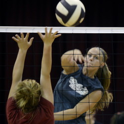 Ashley Howe and her Thrornton Academy teammates provide an example of the growing level of interest in high school volleyball. The Golden Trojans not only have a varsity and junior varsity, but two club teams.