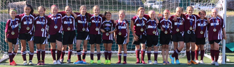 The Windham U12 girls' soccer team won the Seacoast United Labor Day tournament at Epping, New Hampshire. Team members, from left to right: Molly Black, Sidney McCuster, Natalie Kirby, Isabelle Babb, Stella Inman, Julia Kaplan, Natalie Lynch, Phea Tray, Gracie Hodgkins, Destiny Potter, Teyha Esposito-Francis, Riley Shaw, Eliza Trafford, Kayla Flanders, Amelia Mortero and Carly Morey.