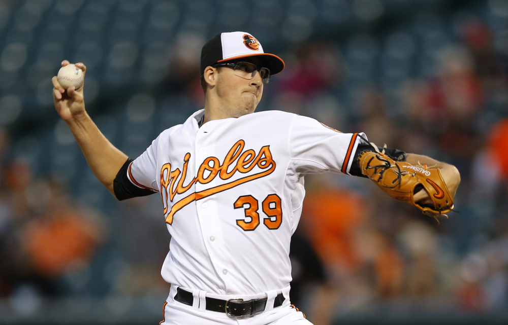 Baltimore's Kevin Gausman pitched six shutout inning as the Orioles beat the Red Sox 2-0 Monday in Baltimore.