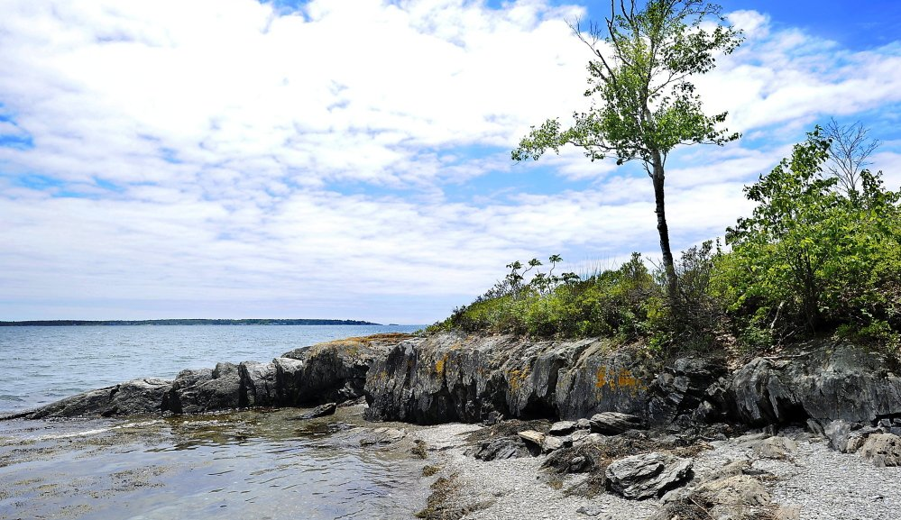 Among the projects slowed by the withholding of LMF funding is a proposal to ensure public access to Clapboard Island in Falmouth.
