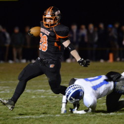 Will Bessey, who rushed for 1,600 yards as a tailback last season for Brunswick, this year is at fullback and linebacker, with stints at tailback, wingback and quarterback likely still to come.