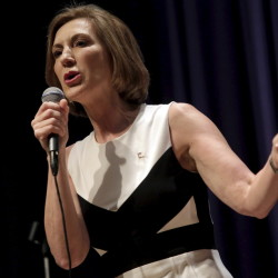 """Republican presidential candidate Carly Fiorina says she hopes what people saw at Wednesday's debate is that """"I can win this job and I can do this job."""" One challenge she faces is building infrastructure in early-voting states."""