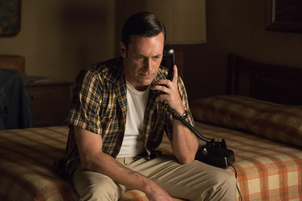 "Jon Hamm in ""Mad Men."" Hamm is nominated for an Emmy for outstanding lead actor in a drama series. AMC"
